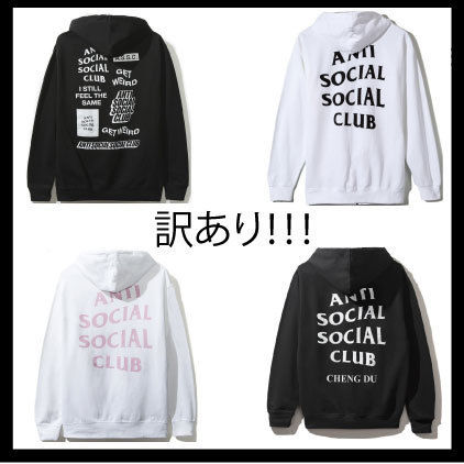 ANTI SOCIAL SOCIAL CLUB Hoodies Pullovers Unisex Street Style Long Sleeves Plain Cotton