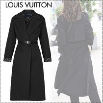 Louis Vuitton MONOGRAM Monogram Wool Blended Fabrics Plain Long Elegant Style