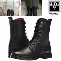 FRYE Round Toe Lace-up Casual Style Plain Leather Lace-up Boots