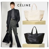 CELINE Casual Style 2WAY Plain Leather Oversized Totes