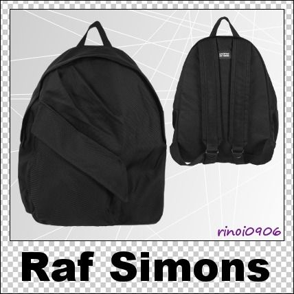Street Style Plain Backpacks