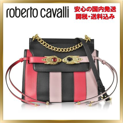 Stripes Chain Leather With Jewels Elegant Style