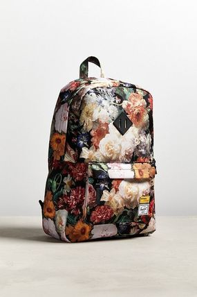 Flower Patterns Street Style A4 Backpacks
