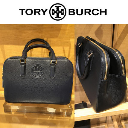 Tory Burch Handbags 2way Plain Leather Elegant Style
