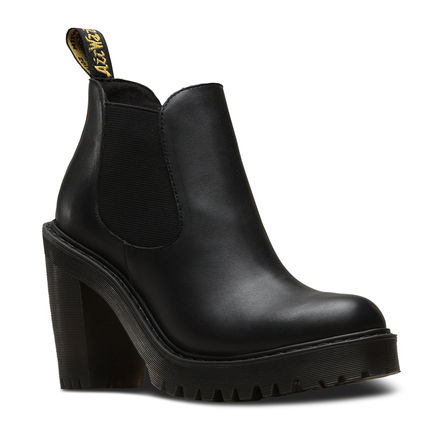 Dr Martens HURSTON Casual Style Unisex Street Style Plain Leather Chelsea Boots