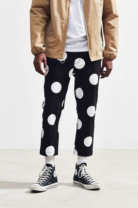 Dots Street Style Cropped Pants