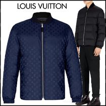 Louis Vuitton Short Monogram Blended Fabrics Street Style Plain