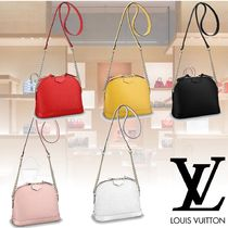 Louis Vuitton EPI Plain Leather Elegant Style Shoulder Bags