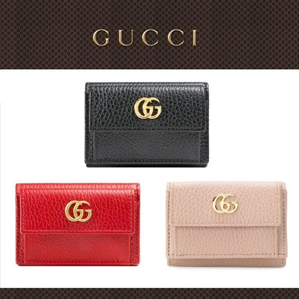 11cf1c49dbf GUCCI GG Marmont Unisex Plain Leather Folding Wallets by yuminko1014 ...
