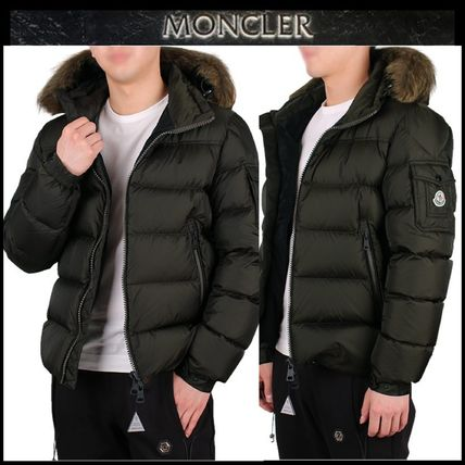 ... MONCLER Down Jackets Short Blended Fabrics Street Style Plain Down  Jackets ... 34f82d1d372