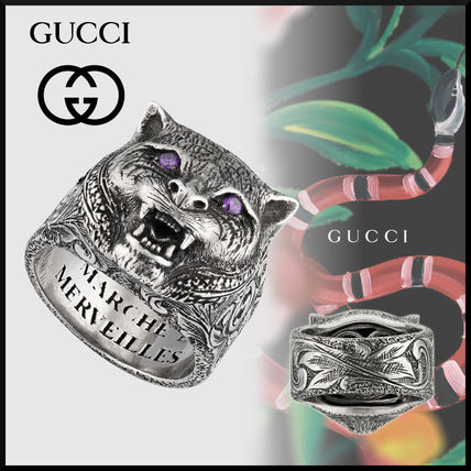 1f5c9de986d GUCCI Other Animal Patterns Silver Rings (524585 J2965 8164) by ...
