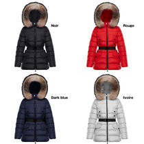 MONCLER CLION Fur Plain Medium Parkas