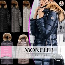 MONCLER HERMIFUR Fur Plain Medium Parkas