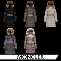 MONCLER HERMIFUR Fur Plain Medium Logo Parkas