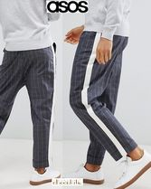 ASOS Tapered Pants Other Check Patterns Street Style Cotton