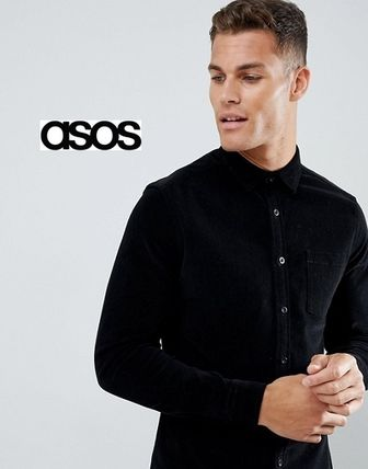 ASOS Shirts Button-down Corduroy Street Style Long Sleeves Plain Shirts 2