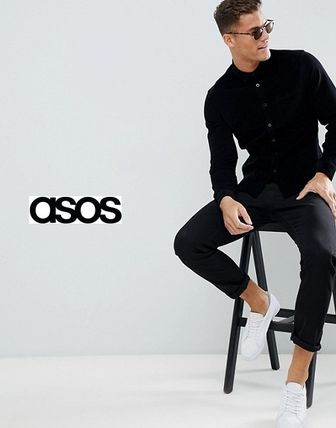 ASOS Shirts Button-down Corduroy Street Style Long Sleeves Plain Shirts 3