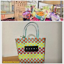 MARNI Other Check Patterns Casual Style Nylon Vanity Bags