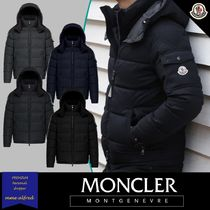 MONCLER MONTGENEVRE Short Wool Blended Fabrics Plain Down Jackets
