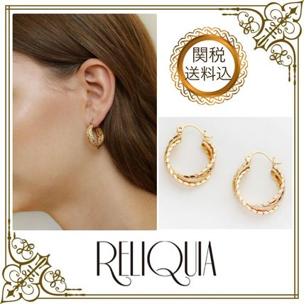 18K Gold Elegant Style Earrings