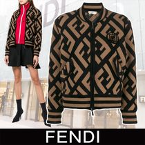 FENDI Monogram Casual Style Wool Medium Jackets