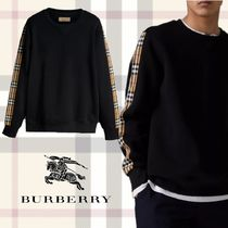 Burberry Crew Neck Pullovers Other Check Patterns Unisex 8f65cd3cca