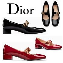Christian Dior Leather Kitten Heel Pumps & Mules