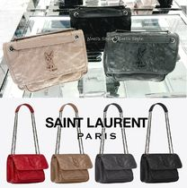 Saint Laurent Niki Casual Style 2WAY Leather Shoulder Bags