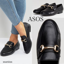 ASOS Round Toe Faux Fur Chain Plain Home Party Ideas