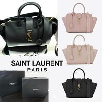 Saint Laurent DOWNTOWN Suede 2WAY Elegant Style Handbags