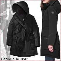 CANADA GOOSE KINLEY Blended Fabrics Plain Medium Down Jackets
