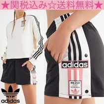 adidas Short Stripes Casual Style Plain Shorts