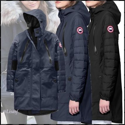 ... CANADA GOOSE Down Jackets Blended Fabrics Plain Long Elegant Style Down Jackets ...