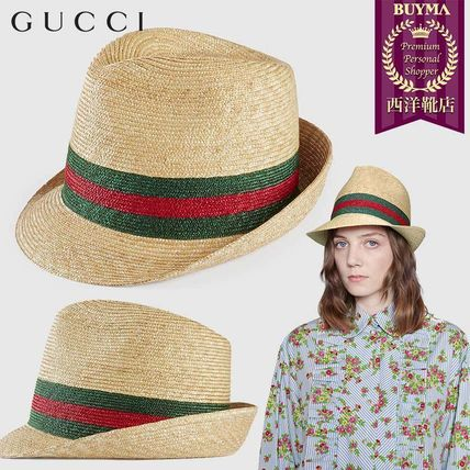 GUCCI 2018-19AW Straw Hats (434760 K0M00 9666) by EU SHOES - BUYMA 28403ed09454