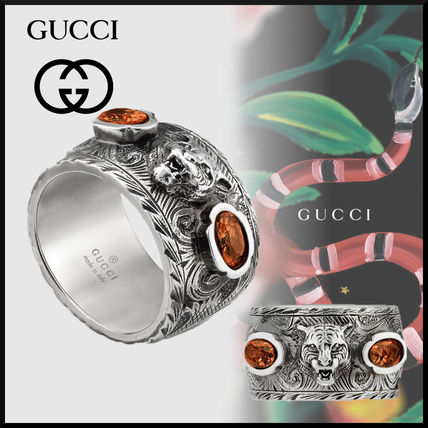 3cc77d2a6c1 GUCCI Other Animal Patterns Silver Rings (461879 09829 8168) by ...
