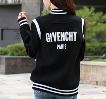 GIVENCHY Casual Style Wool Street Style Plain Medium Varsity Jackets