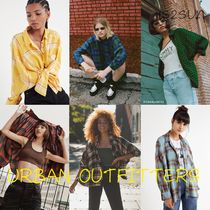 Urban Outfitters Tartan Casual Style Street Style Oversized Shirts & Blouses