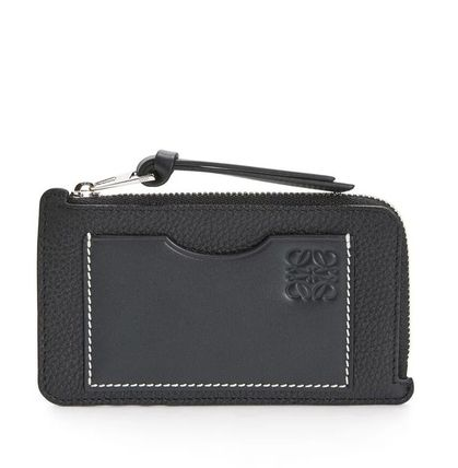 LOEWE Calfskin Bi-color Plain Card Holders