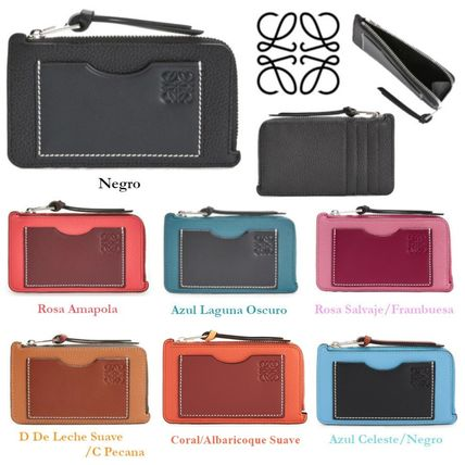 Calfskin Bi-color Plain Card Holders