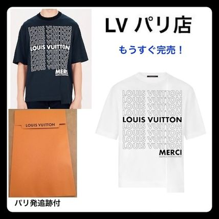 82977af9f46e ... Louis Vuitton More T-Shirts Monogram Unisex Street Style U-Neck Plain  Cotton ...