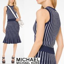 Michael Kors Stripes Sleeveless Tanks & Camisoles