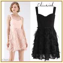 Chicwish Short Sleeveless Plain Party Style Dresses