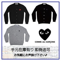 COMME des GARCONS Heart Wool Cardigans