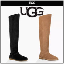 UGG Australia Casual Style Suede Plain Over-the-Knee Boots