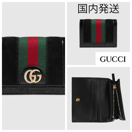 buy online d6e68 1f276 GUCCI Ophidia Suede Folding Wallets