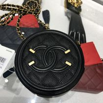 CHANEL Calfskin Bag in Bag Chain Plain Shoulder Bags