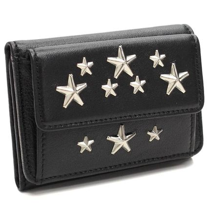 Star Studded Leather Folding Wallets