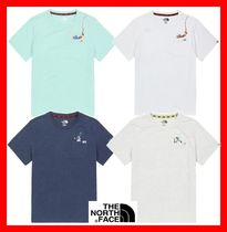 THE NORTH FACE Unisex Street Style Cotton Short Sleeves T-Shirts