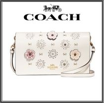Coach Flower Patterns Casual Style 2WAY Leather Shoulder Bags