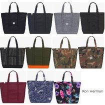 Ron Herman Camouflage Unisex Canvas Street Style A4 Plain Totes